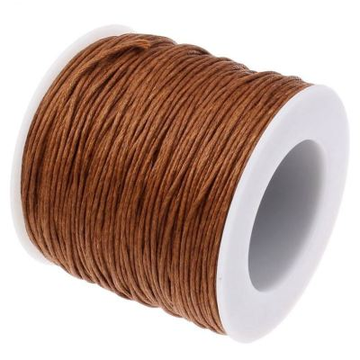 10 Yards (30 Feet) Henna Brown 1Mm Waxed Cord - Wax