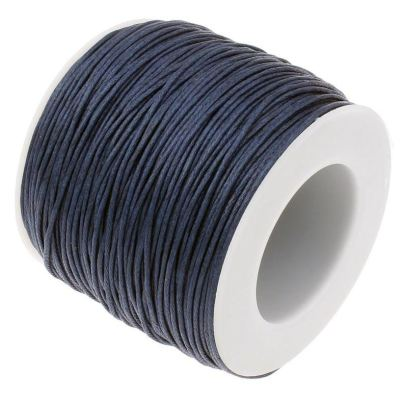 10 Yards (30 Feet) Navy Blue 1Mm Waxed Cord / Necklace - Wax