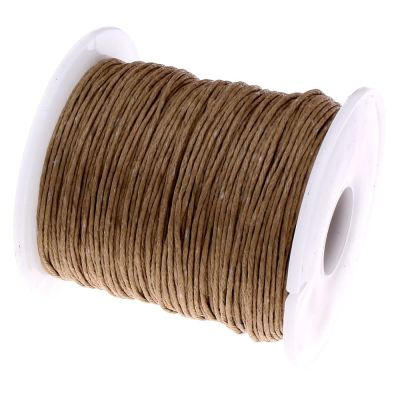 10 Yards (30 Feet) Nutmeg Brown 1Mm Waxed Cord String - Wax