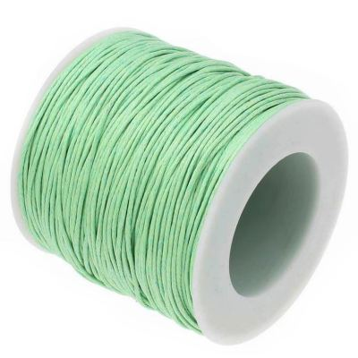 10 Yards (30 Feet) Pale Green 1Mm Waxed Cord String / Jewelry Making - Wax