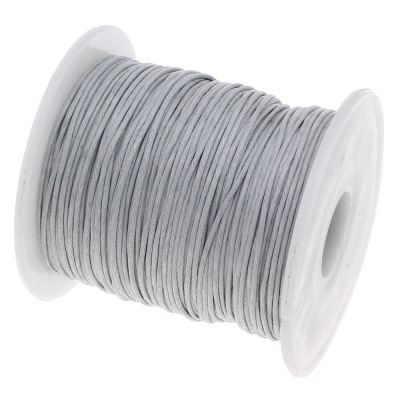 10 Yards (30 Feet) Pale Grey 1Mm Waxed Cord String / Macrame - Wax
