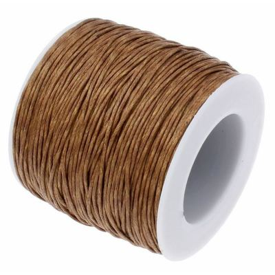 10 Yards (30 Feet) Saddle Brown 1Mm Waxed Cord String / Jewelry - Wax
