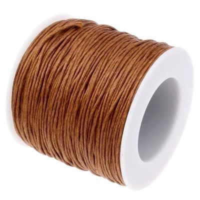 10 Yards (30 Feet) Sienna Brown 1Mm Waxed Cord String / Jewelry - Wax