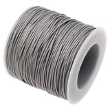 10 Yards (30 Feet) Smoke Gray 1Mm Waxed Cord String - Wax