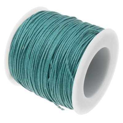 10 Yards (30 Feet) Teal 1Mm Waxed Cord / Cotton Jewelry - Wax
