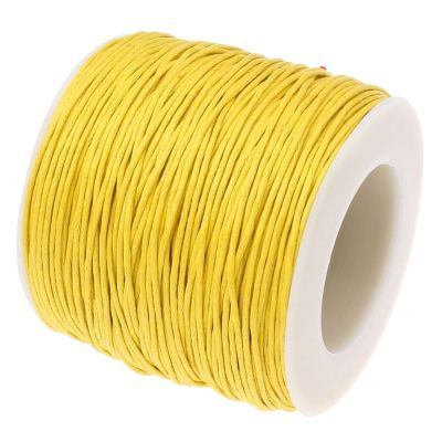 10 Yards (30 Feet) Yellow 1Mm Waxed Cotton Cord / Bracelet String - Wax