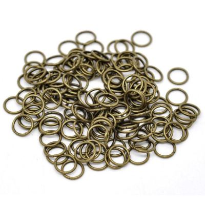100 Antique Bronze Open Jump Rings 10 X 1.2Mm (18 Gauge)
