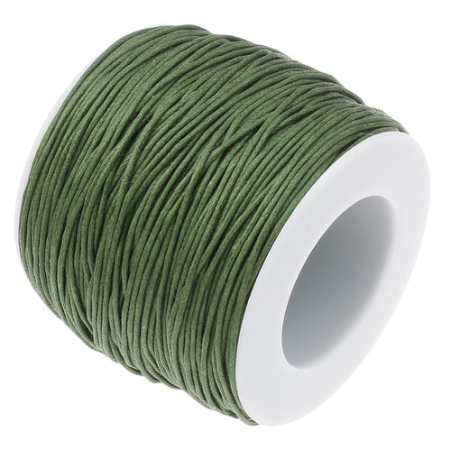 Olive Green Waxed Cord at Baubles Of Fun