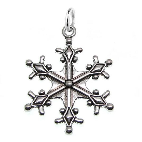Add-A-Charm Antique Silver Large Snowflake Charm with Jump Ring