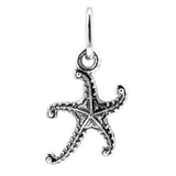 Silver Starfish Beach Charm with Jump Ring at Baubles Of Fun