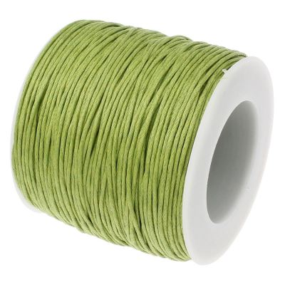20 Feet 1.5Mm Green Apple Waxed Cotton Cord - Wax