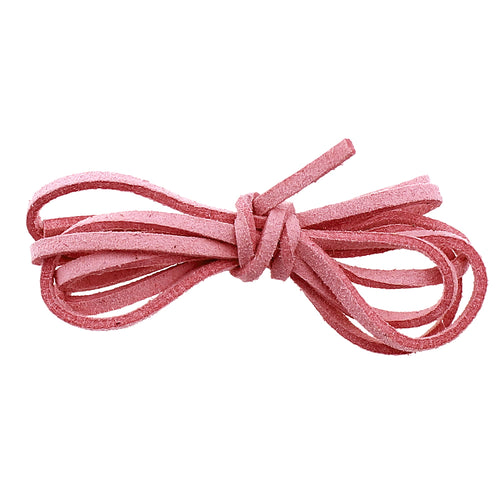 1 Yard (3 feet) Blush Pink 2.5 x1.5mm  Flat Faux Suede Jewelry Cord