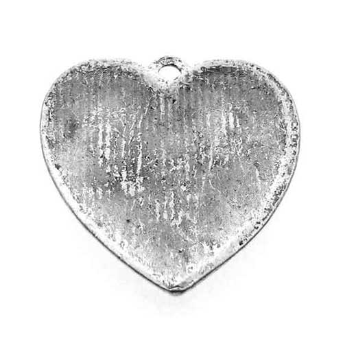 Antique Silver Heart Charms Back Side at BaublesOfFun.com
