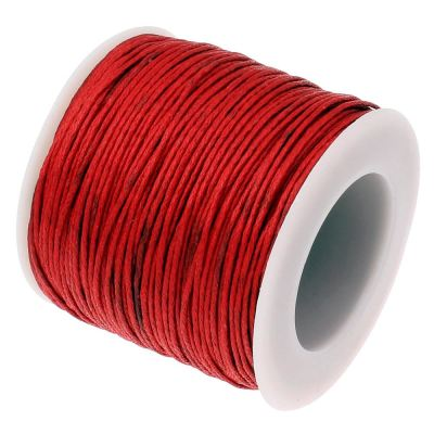 30 Feet (10 Yards) Red 1Mm Waxed Cotton Cord String - Wax