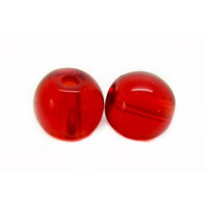 4Mm Ruby Red Round Crystal Beads