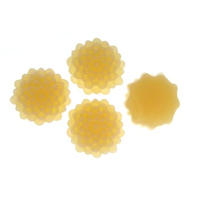 6 Pieces Buttercream Resin Dahlia Chrysanthemum Flower Cabochons - Bloomin Baubles