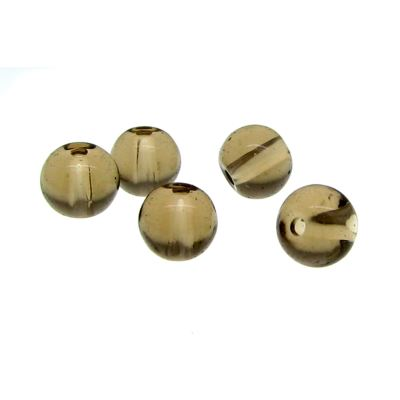 6Mm Greige Round Crystal Beads
