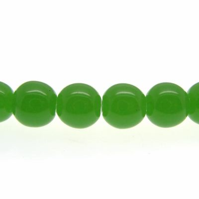 8Mm Imitation Green Jade Round Glass Beads