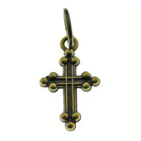 Antique Bronze Religious Cross Charm at Baubles Of Fun
