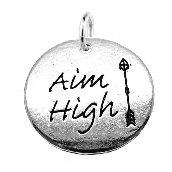Silver Aim High Arrow Charm with Jump Ring at Baubles Of Fun