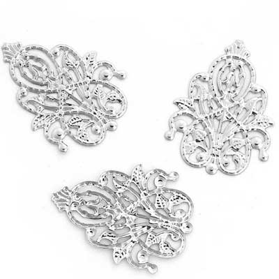 Silver Filigree Jewelry Stampings at BaublesOfFun.com