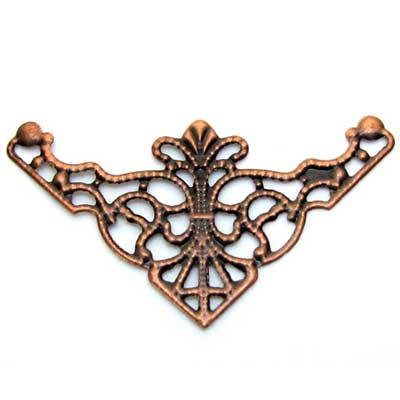 Antique Copper Filigree Stampings / Links at BaublesOfFun.com