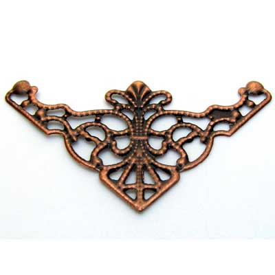 Antique Copper Filigree Findings at BaublesOfFun.com