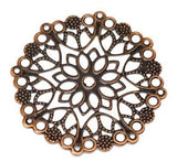 Copper Filigree Stampings at BaublesOfFun.com