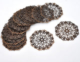 Copper Filigree Embellishments at BaublesOfFun.com