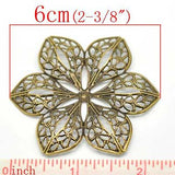 Bronze Flower Filigree Findings at BaublesOfFun.com