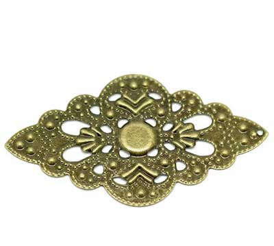 Antique Bronze Filigree Embellishments at BaublesOfFun.com
