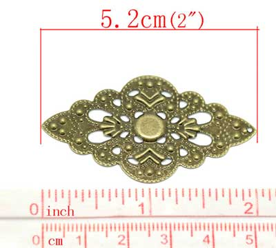 Antique Bronze Filigree Stampings at BaublesOfFun.com