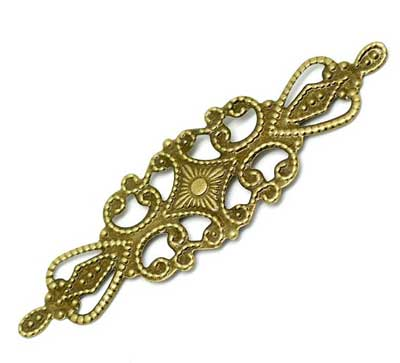 Bronze Filigree Embellishment at BaublesOfFun.com
