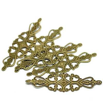 Bronze Filigree Jewelry Findings at BaublesOfFun.com