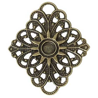 Bronze Rhombus Filigree Embellishment at BaublesOfFun.com
