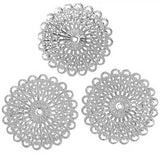 Silver Filigree Stampings / Embellishments / Filigree Findings [10pcs]