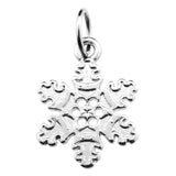 Silver Snowflake Charm with Jump Ring at Baubles Of Fun