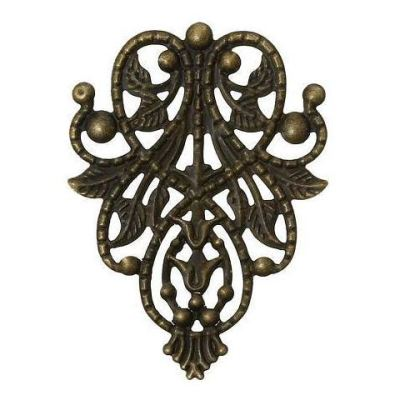 Antique Brass Filigree Connectors | Links | Bronze Metal Stampings | Focals - Embellishments