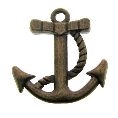 Antique Bronze Anchor Charms / Brass Ox Boat Pendants