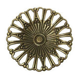 Antique Bronze Filigree Connectors Links | Round Metal Stampings - Embellishments