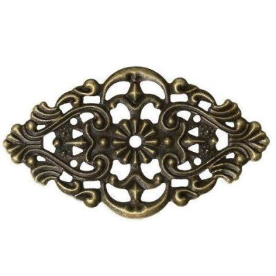 Antique Bronze Filigree Link / Rectangle Floral Filigree Metal Stamping [1pc]