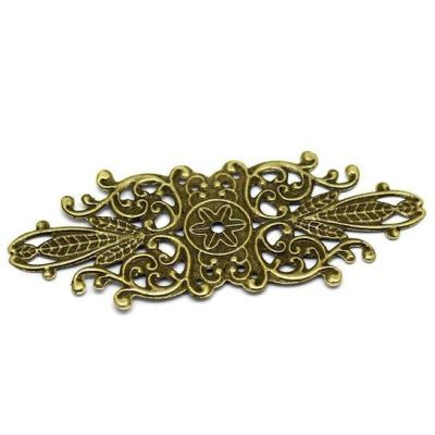 Antique Bronze Filigree Flower Connectors Links | Brass Stampings - Embellishments