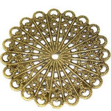 Antique Bronze Filigree Flower Links | Brass Connectors - Embellishments