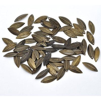 Antique Bronze Filigree Leaf Connectors Links | Metal Stampings - Embellishments
