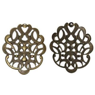 Antique Bronze Filigree Links | Brass Ox Connectors | Stampings - Embellishments