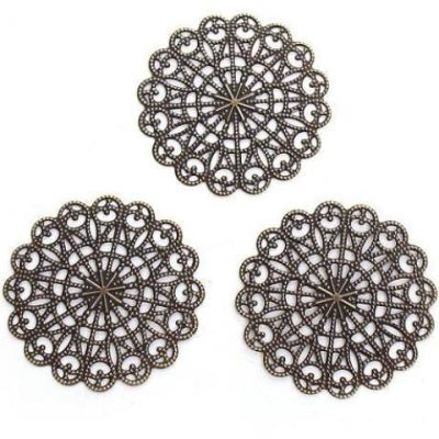Antique Bronze Filigree Metal Jewelry Stampings | Brass Links | Focals - Embellishments