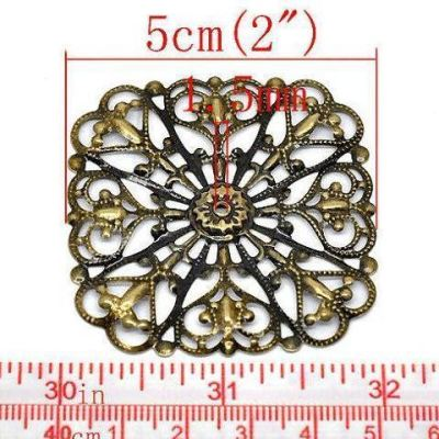 Antique Bronze Filigree Wraps Connectors | Metal Stampings | Links - Embellishments