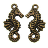 Antique Bronze Sea Horse Charms | Seahorse Pendants
