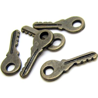 Antique Bronze Small Vintage Key Charms