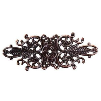 Antique Copper Filigree Flower Links | Metal Jewelry Stampings - Embellishments